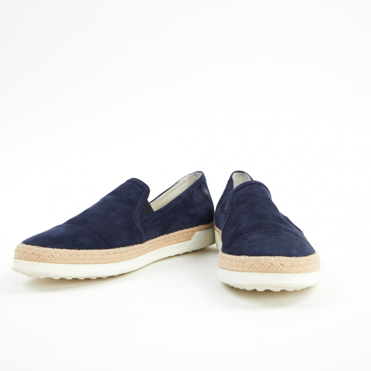 f1652b504 Tod's Blue Suede Flats in Blue - Save 55% - Lyst