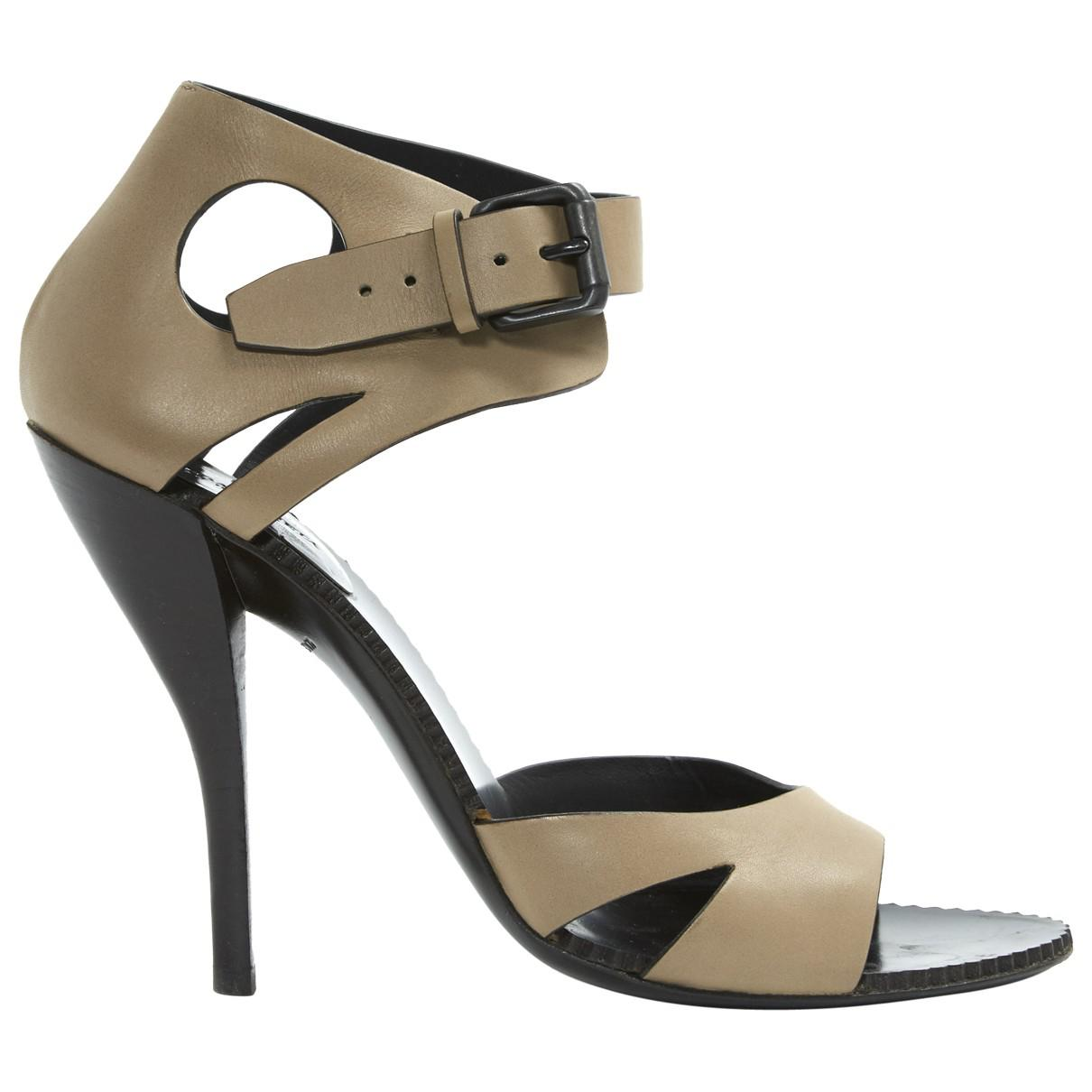 Pre-owned - Leather sandals Bottega Veneta gf5Em