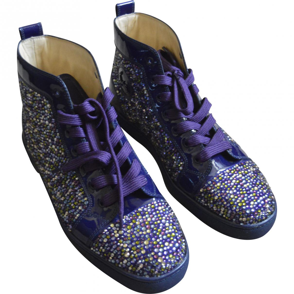 04d8c7d042c Lyst - Christian Louboutin Pre-owned Leather High Trainers in Purple