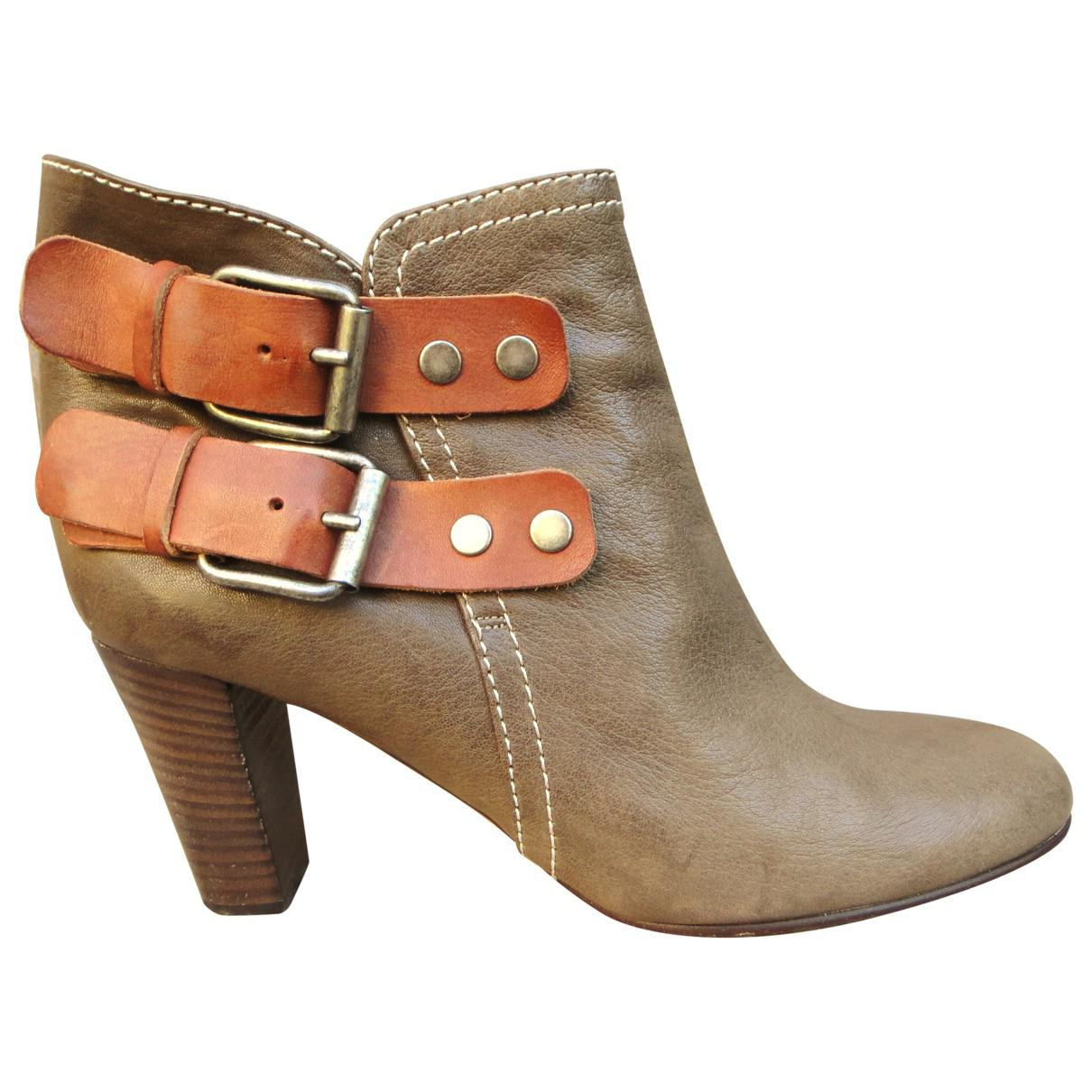 reputable site af2cd 1f6b4 chloe-Khaki-Pre-owned-Khaki-Leather-Ankle-Boot.jpeg