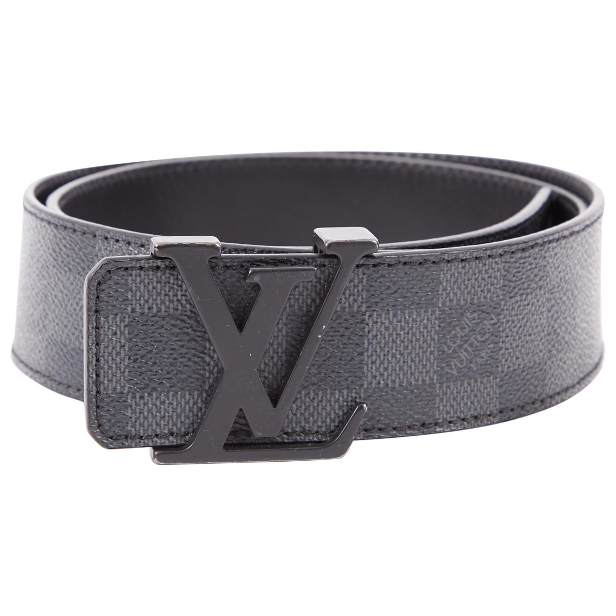 82a32bf6d82c Lyst - Louis Vuitton Pre-owned Leather Belt in Black for Men