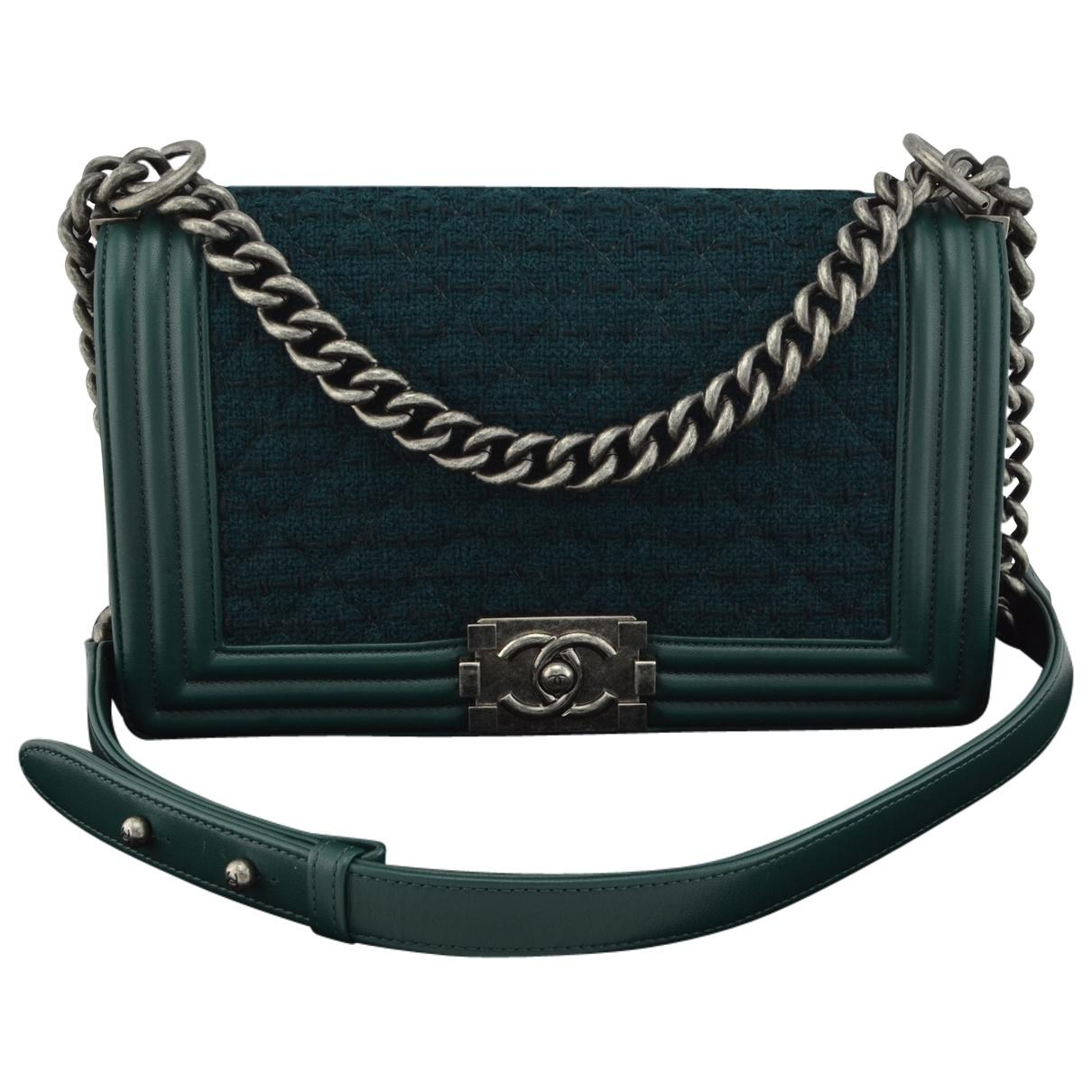 3436751b54ae37 Chanel Boy Tweed Handbag in Blue - Lyst