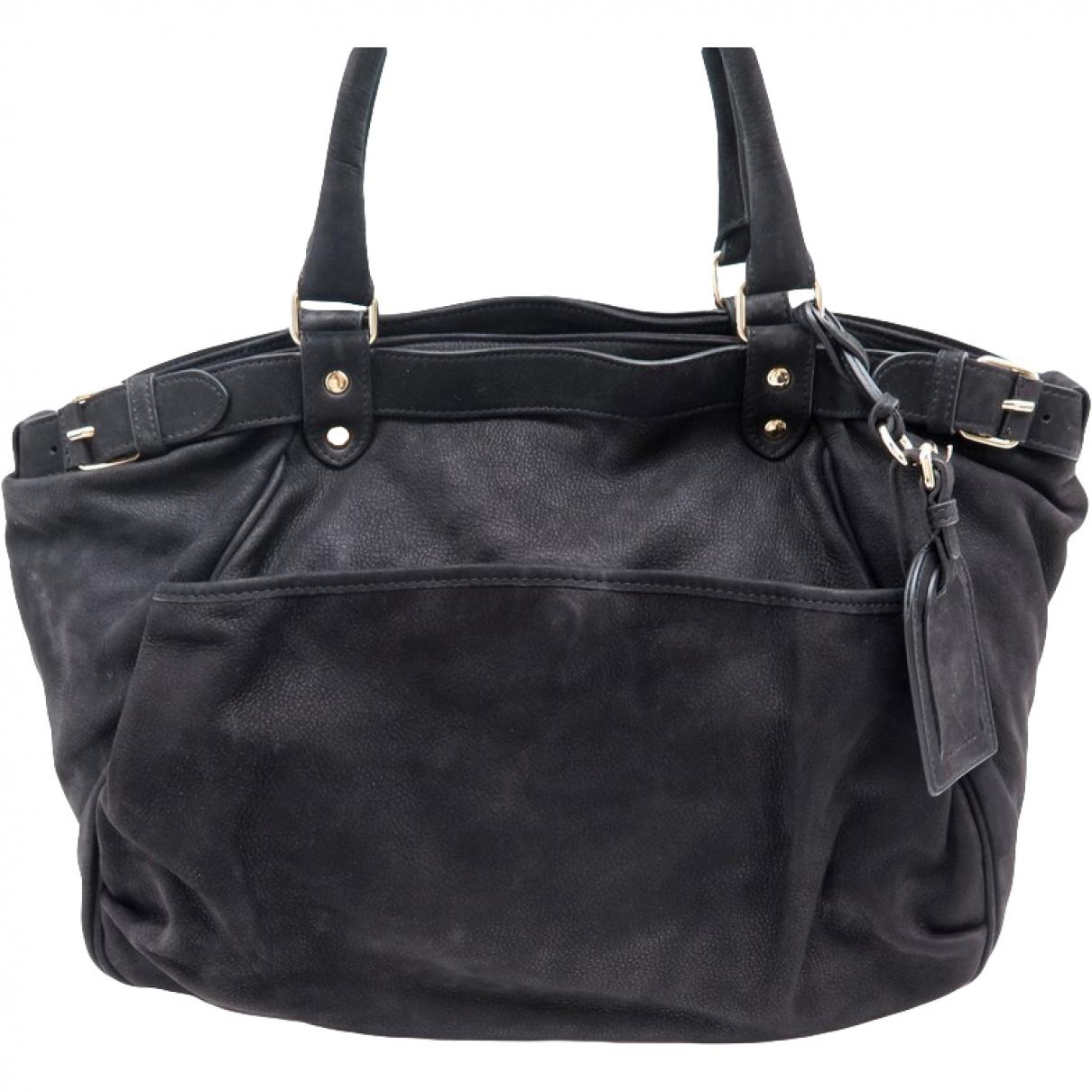 82c87afb3fa9 Vanessa Bruno Lune Leather Handbag in Black - Lyst