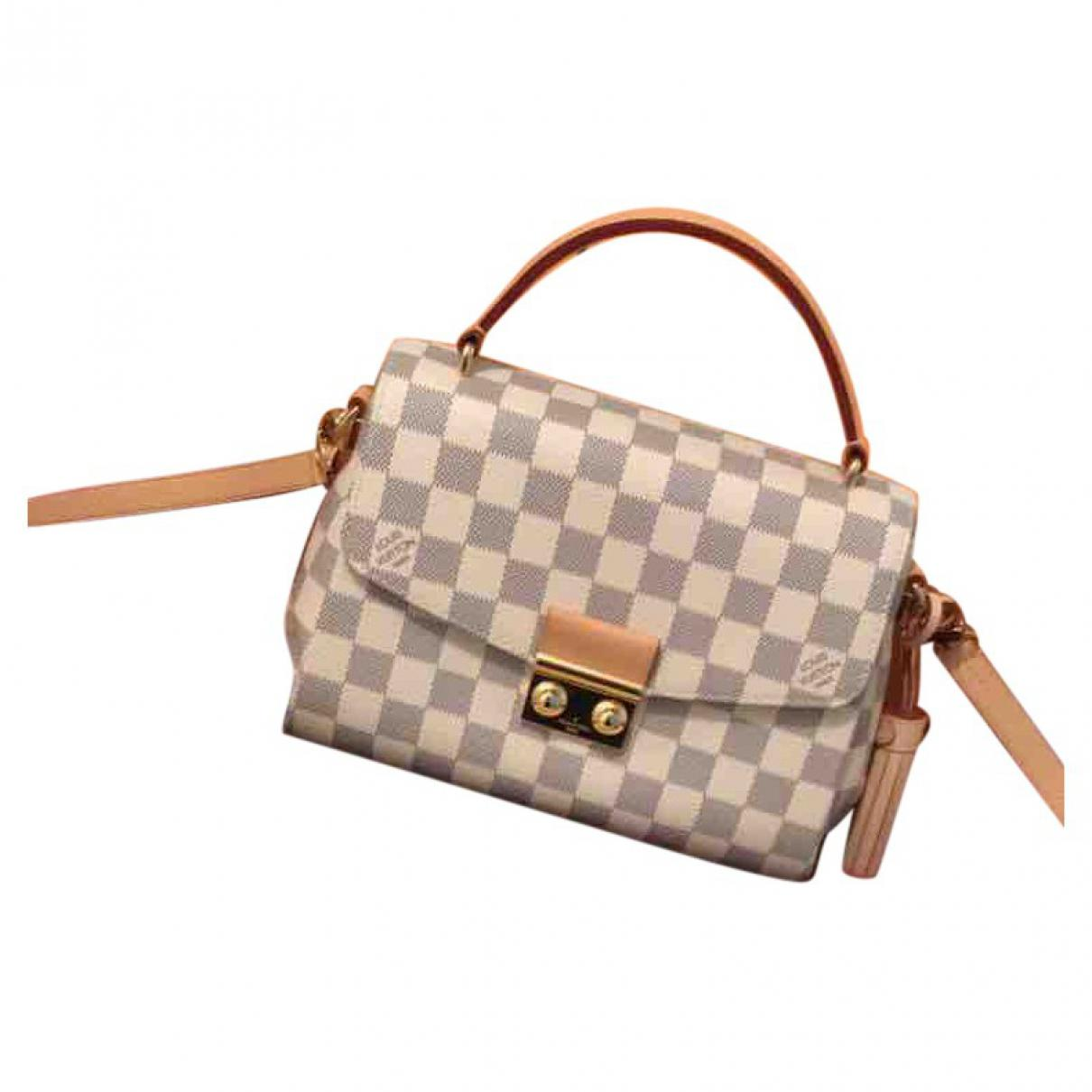 Louis Vuitton Croisette Leather Crossbody Bag In White Lyst