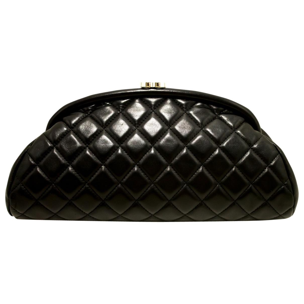 32c6ceafd38e Chanel. Women's Pre-owned Black Leather Clutch Bags. $2,098 From Vestiaire  Collective