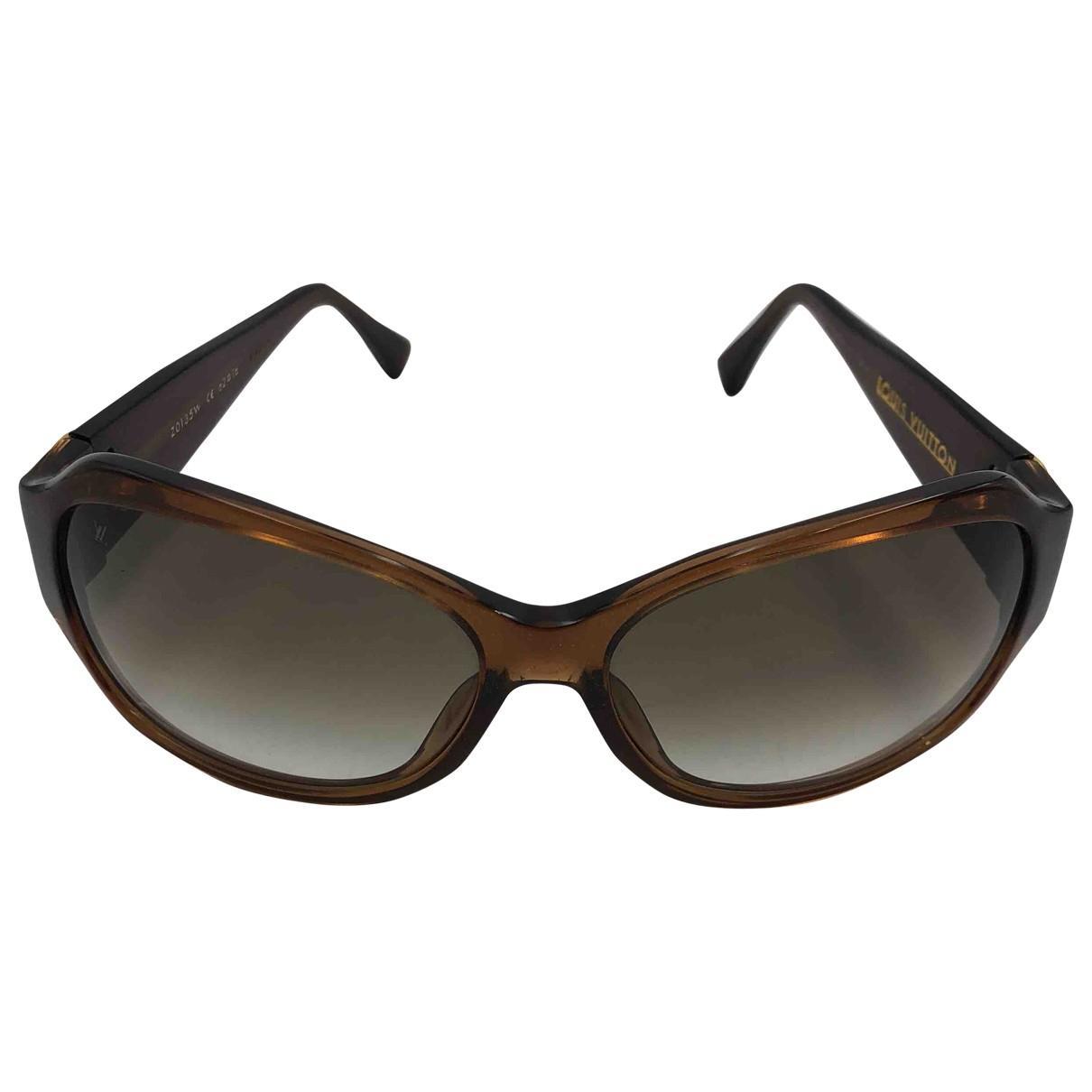 874e5ba5404 Lyst - Louis Vuitton Brown Plastic Sunglasses in Brown
