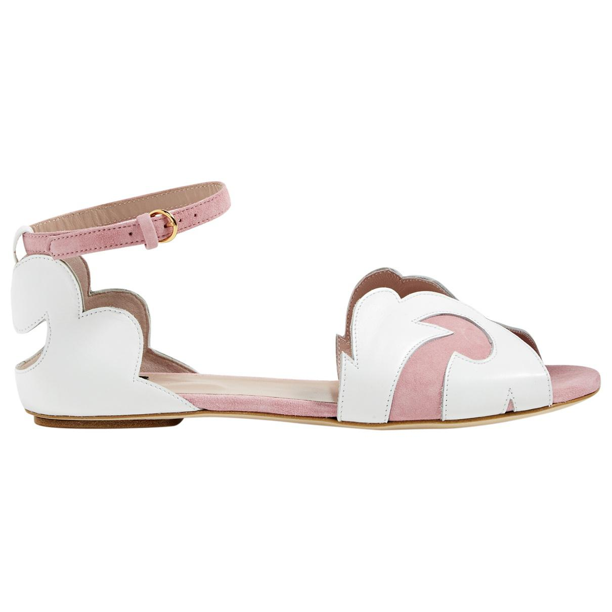 Pre-owned - Leather sandals Moschino 4JNHgDsph