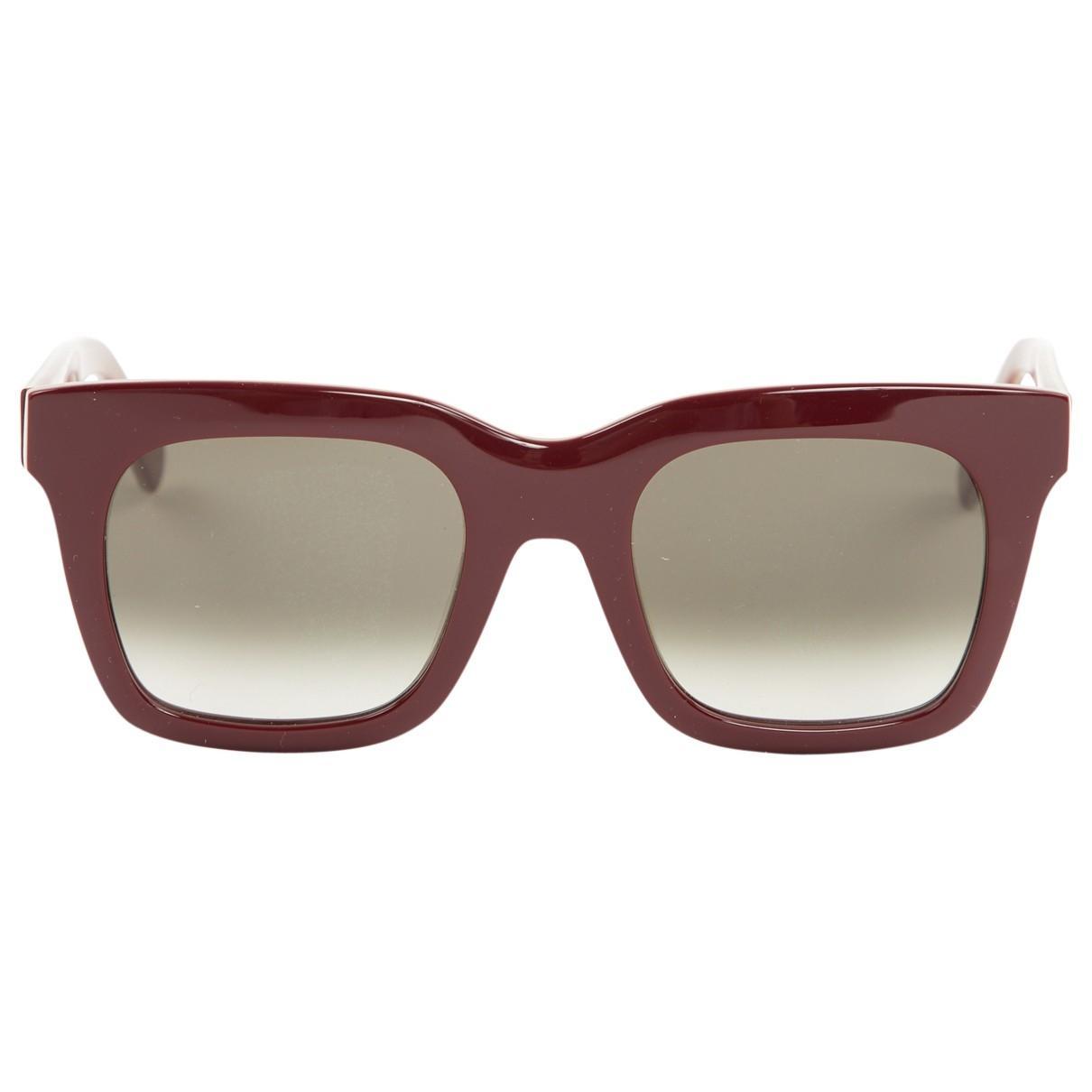 6bee6071b2264 Céline. Women s Luca Burgundy Plastic Sunglasses. £203 From Vestiaire  Collective