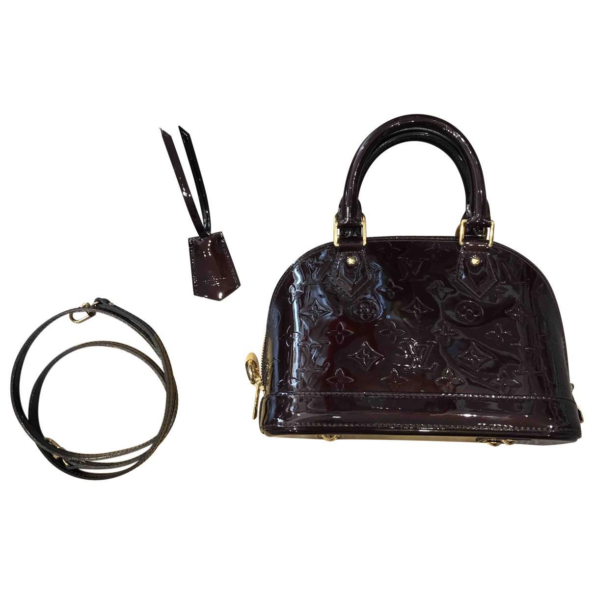 e53be9728b3 Louis Vuitton Alma Bb Patent Leather Crossbody Bag in Black - Lyst