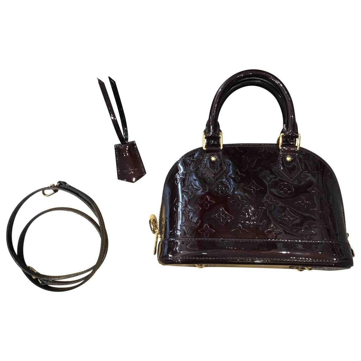 ccab71de819789 Louis Vuitton Alma Bb Patent Leather Crossbody Bag in Black - Lyst