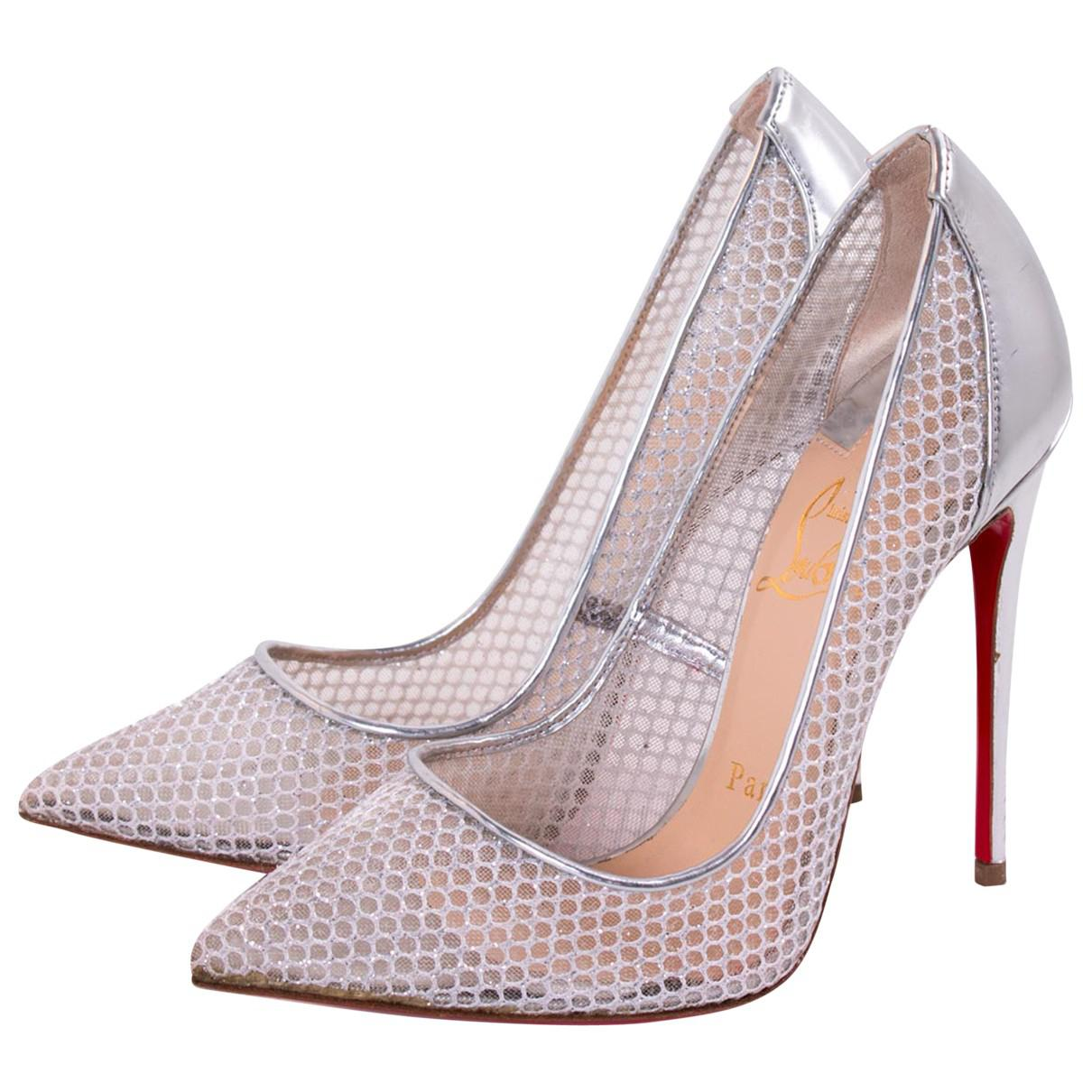 704d8572f51 Lyst - Christian Louboutin Heels in Metallic