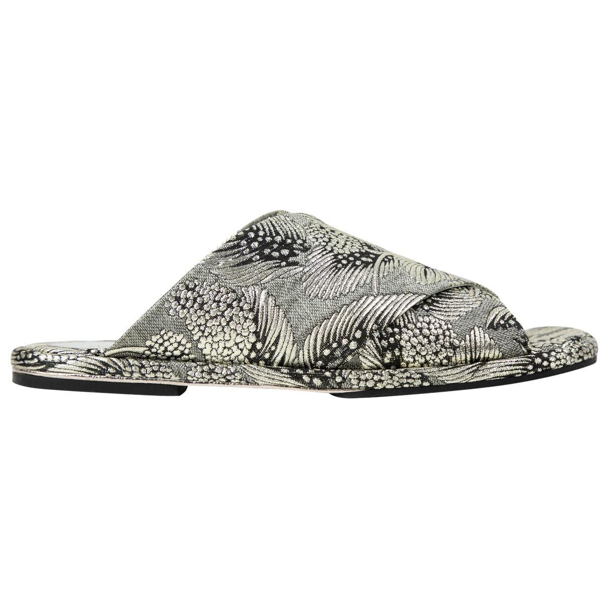 c3d660bab44 Dries Van Noten Jacquard Slide Sandals W  Tags in Metallic - Lyst