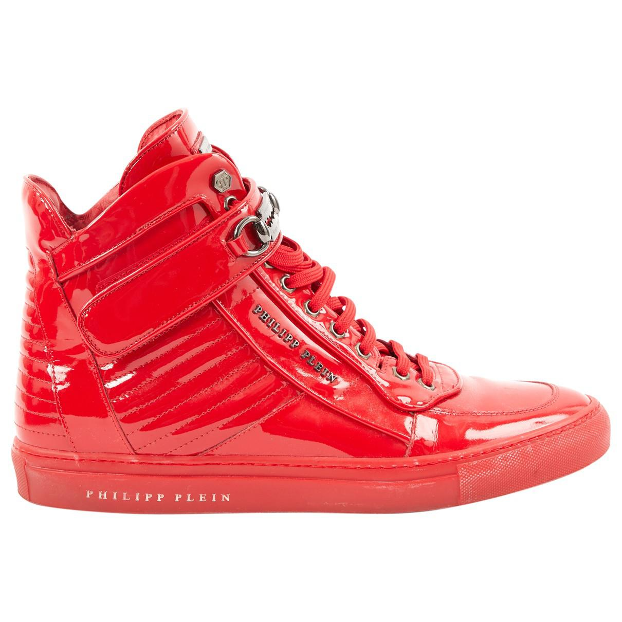 Pre-owned - Patent leather high trainers Philipp Plein Aa0N5aTI