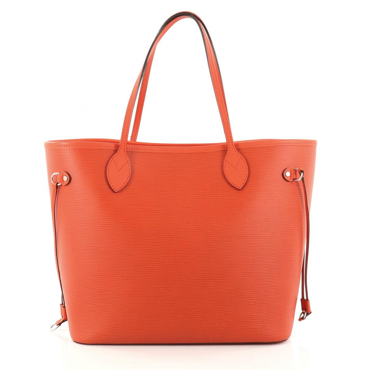 ad4d80234175 Louis Vuitton Pre-owned Orange Leather Handbag in Orange - Lyst