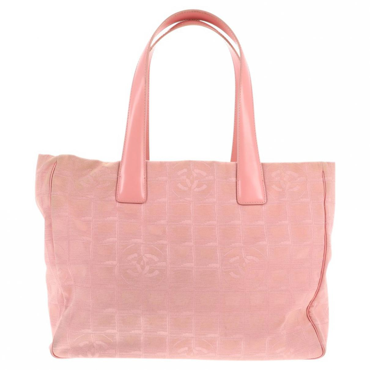 3ce9401bd603 Chanel Pre-owned Cloth Handbag in Pink - Lyst