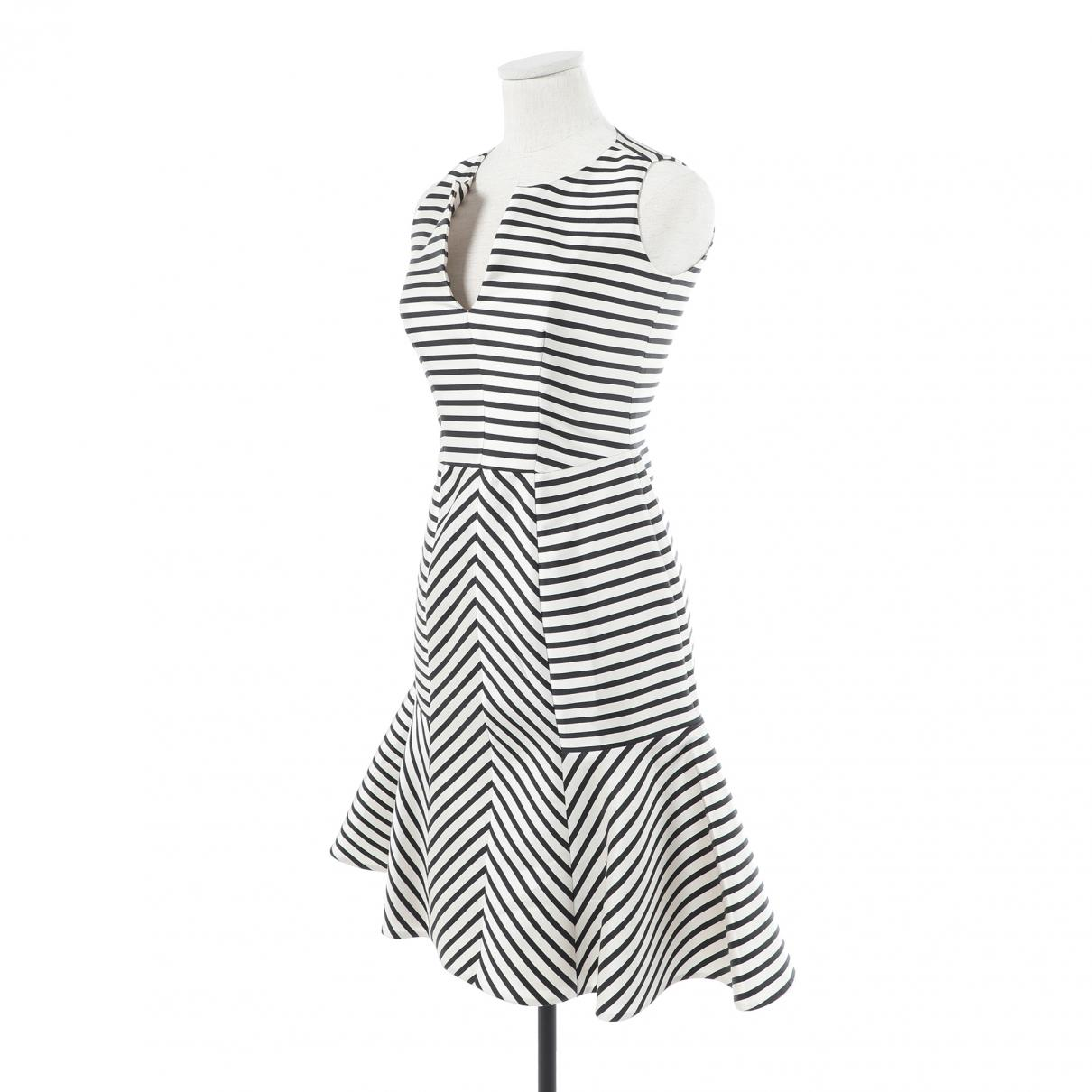 lyst carolina herrera mid length dress in white Armani Evening Gowns view fullscreen