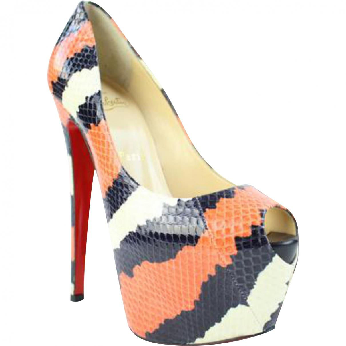 Christian Louboutin Bianca Exotic Leathers Heels