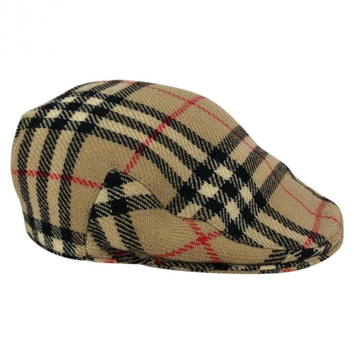 4df864b4415 Lyst - Burberry Vintage Beige Wool Hats   Pull On Hats in Natural ...