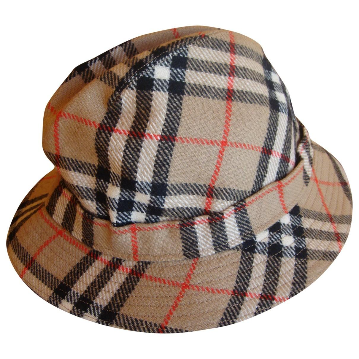 81be49dcec2 Lyst - Burberry Wool Hat in Natural for Men