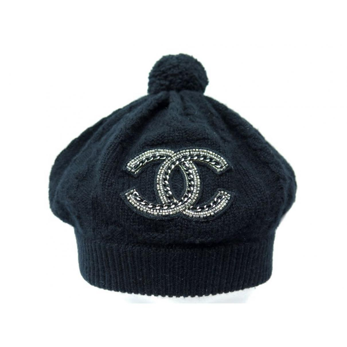 Lyst - Chanel Black Cashmere Hats in Black d15bd2f5611