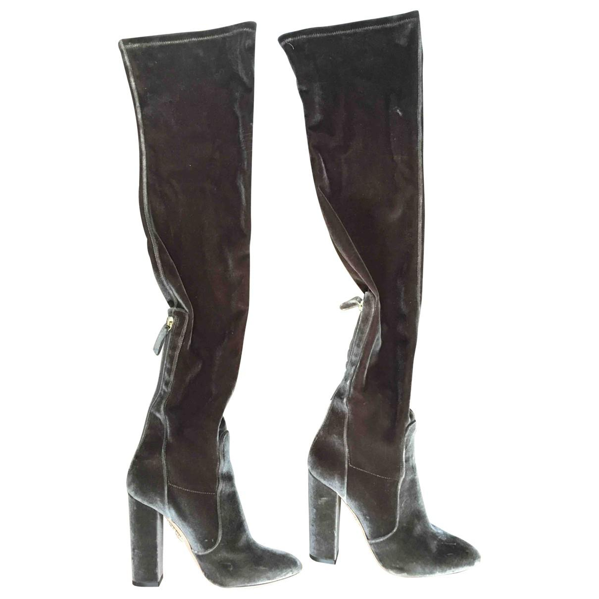 Official Cheap Price Pre-owned - Velvet boots Aquazzura Big Discount Discount Browse Very Cheap Online 80HIv