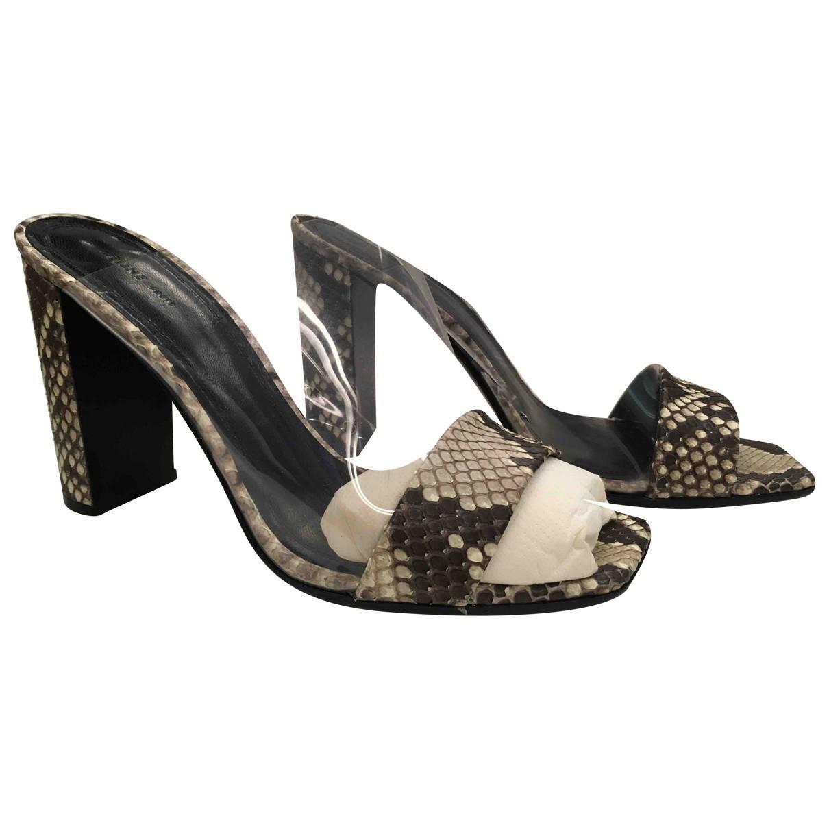 Pre-owned - Python sandals Celine tpo2kg