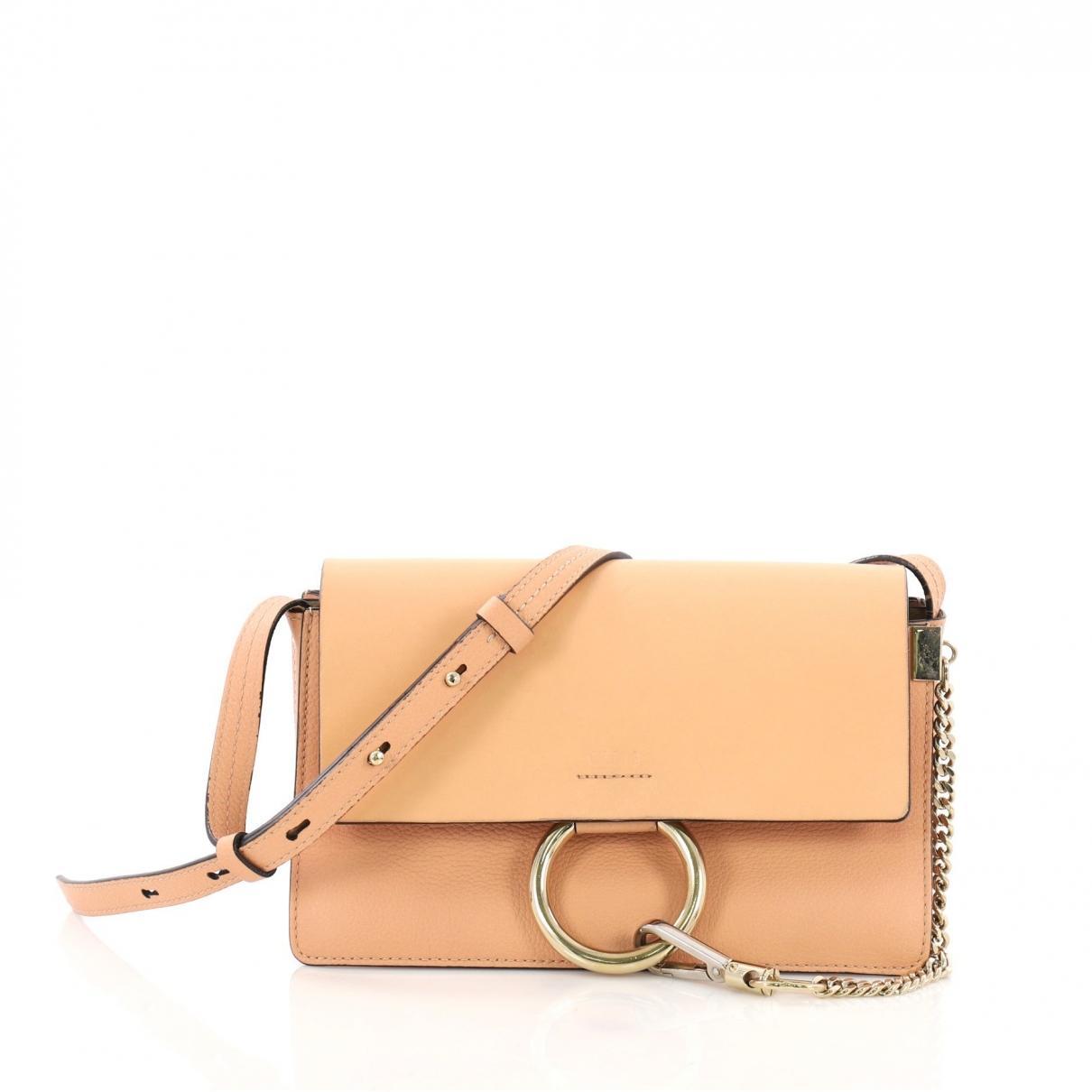 Chloé Leather Lyst Handbag Brown In Faye KcFJl1