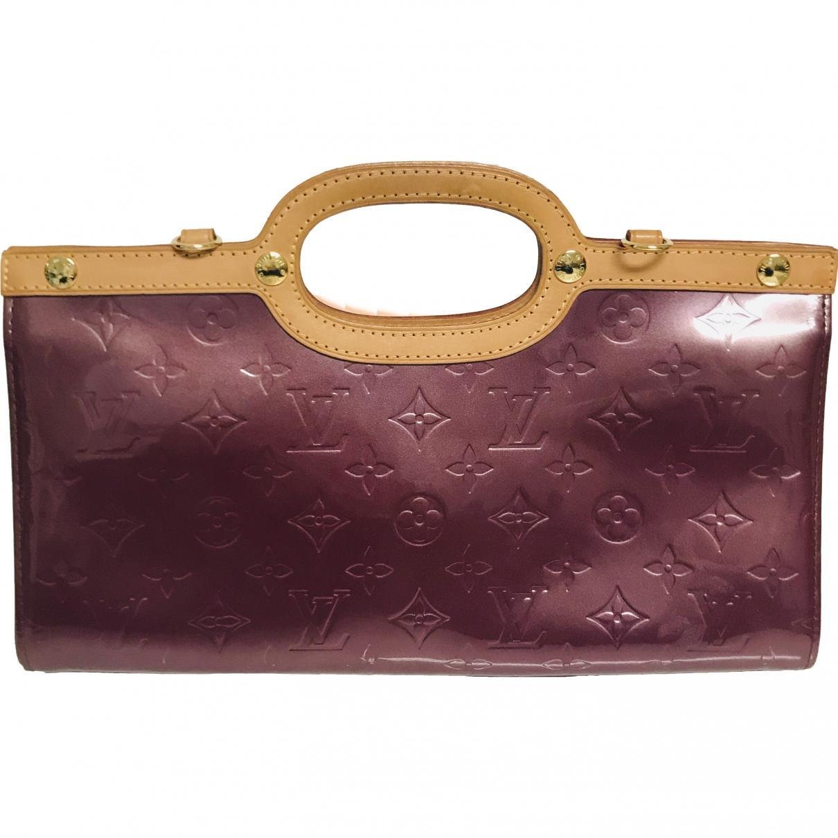 1387983b91e Lyst - Sac à main Roxbury en cuir verni Louis Vuitton en coloris Violet