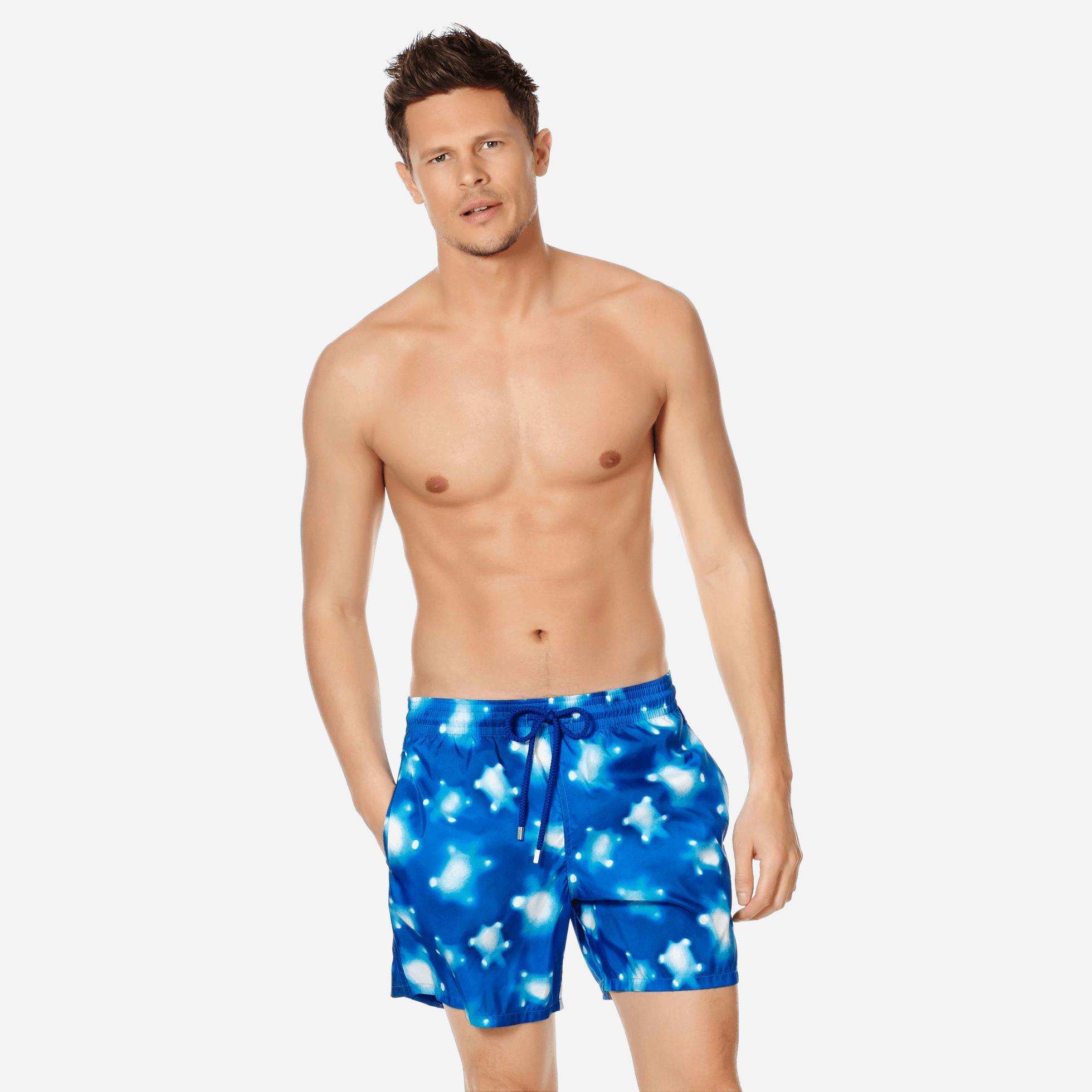 492873bcaa Vilebrequin. Blue Men Swim Trunks Ultra-light And Packable Crystal Turtles