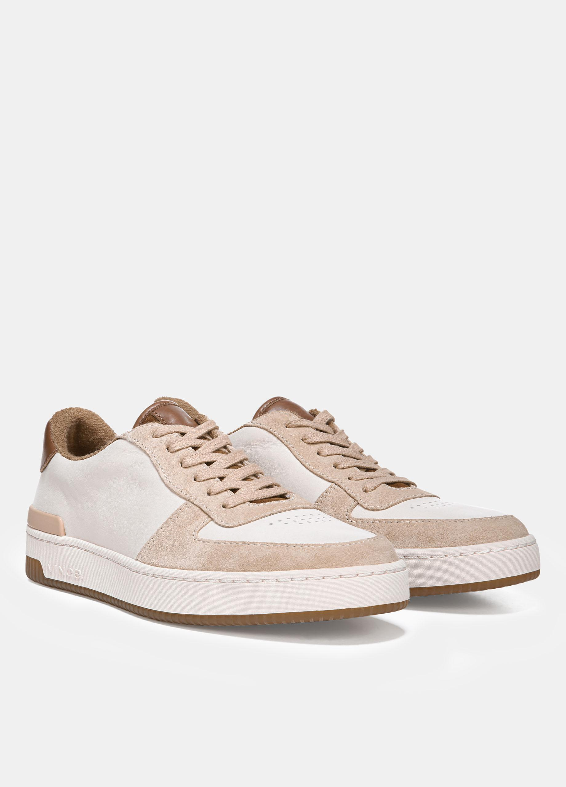 89bd3882cc150 Lyst - Vince Rendel Suede Sneakers in Natural