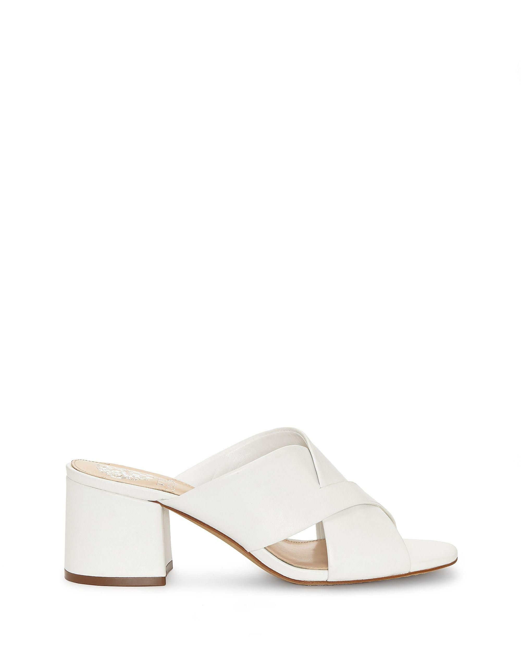 396f61326e0 Lyst - Vince Camuto Stania – Block-heel Mule in White - Save 32%