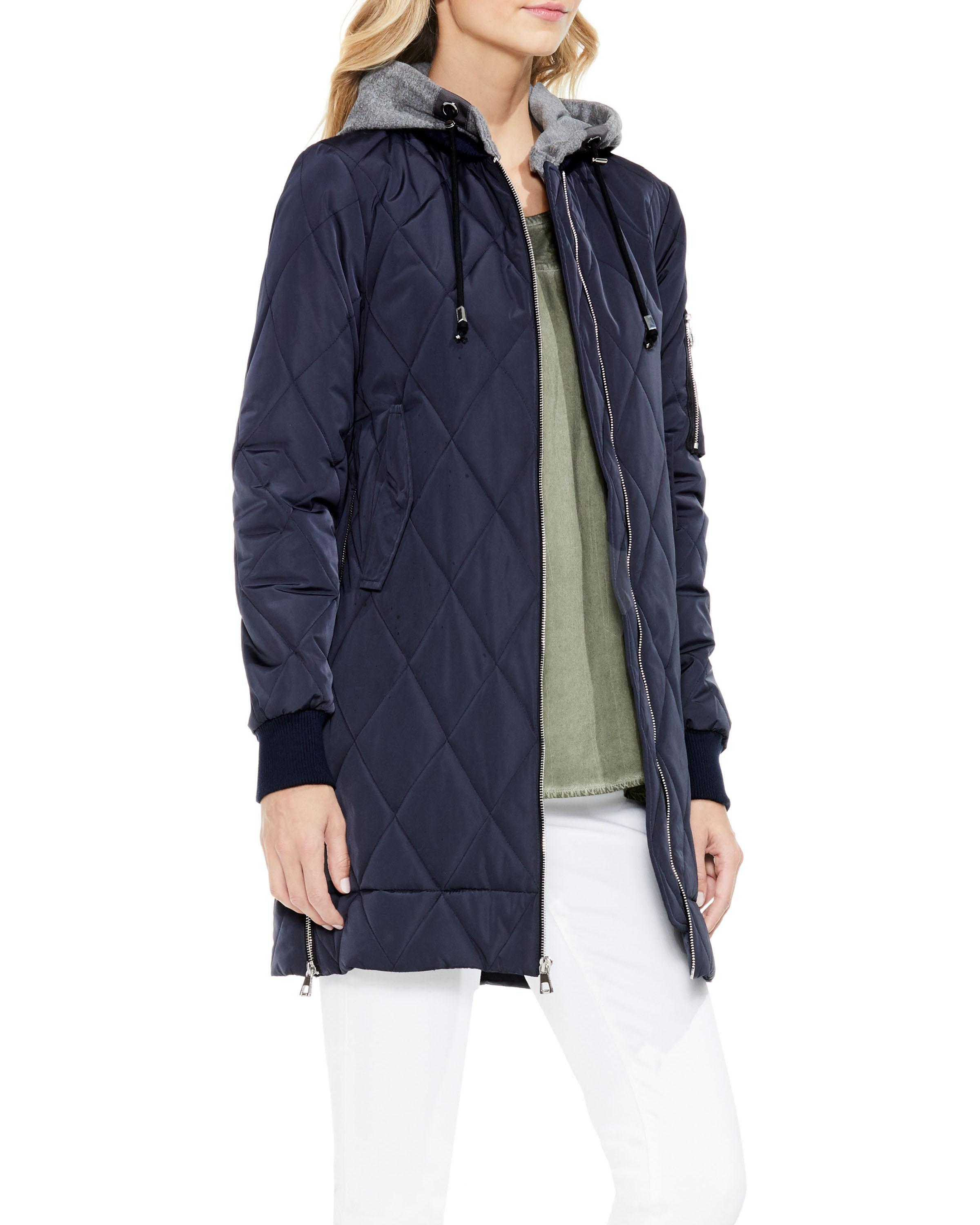 vince quilt channel jacket camuto hooded quilted coat