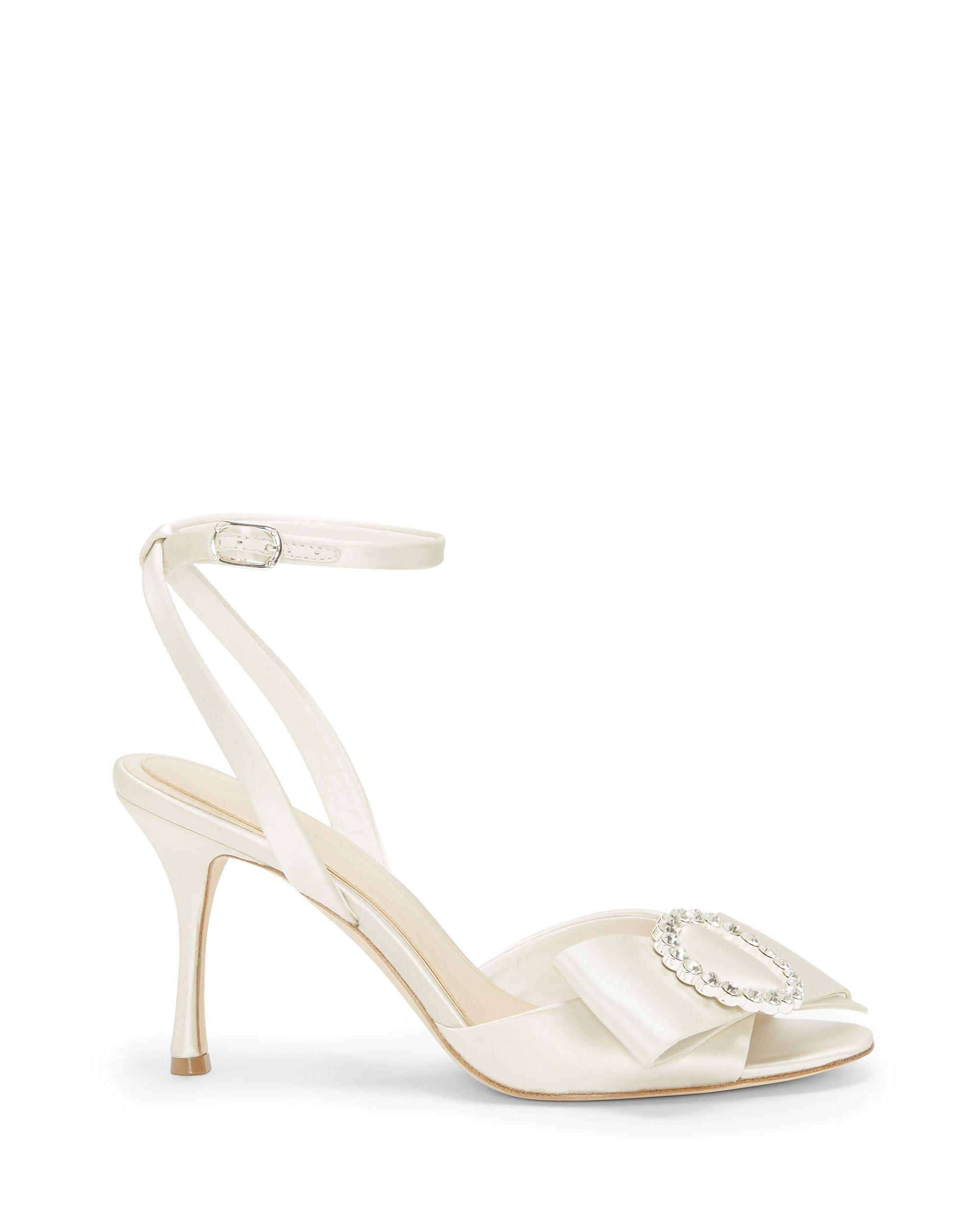 f82403392db7 Lyst - Vince Camuto Imagine Belia – Bow-strap Sandal in White - Save 19%
