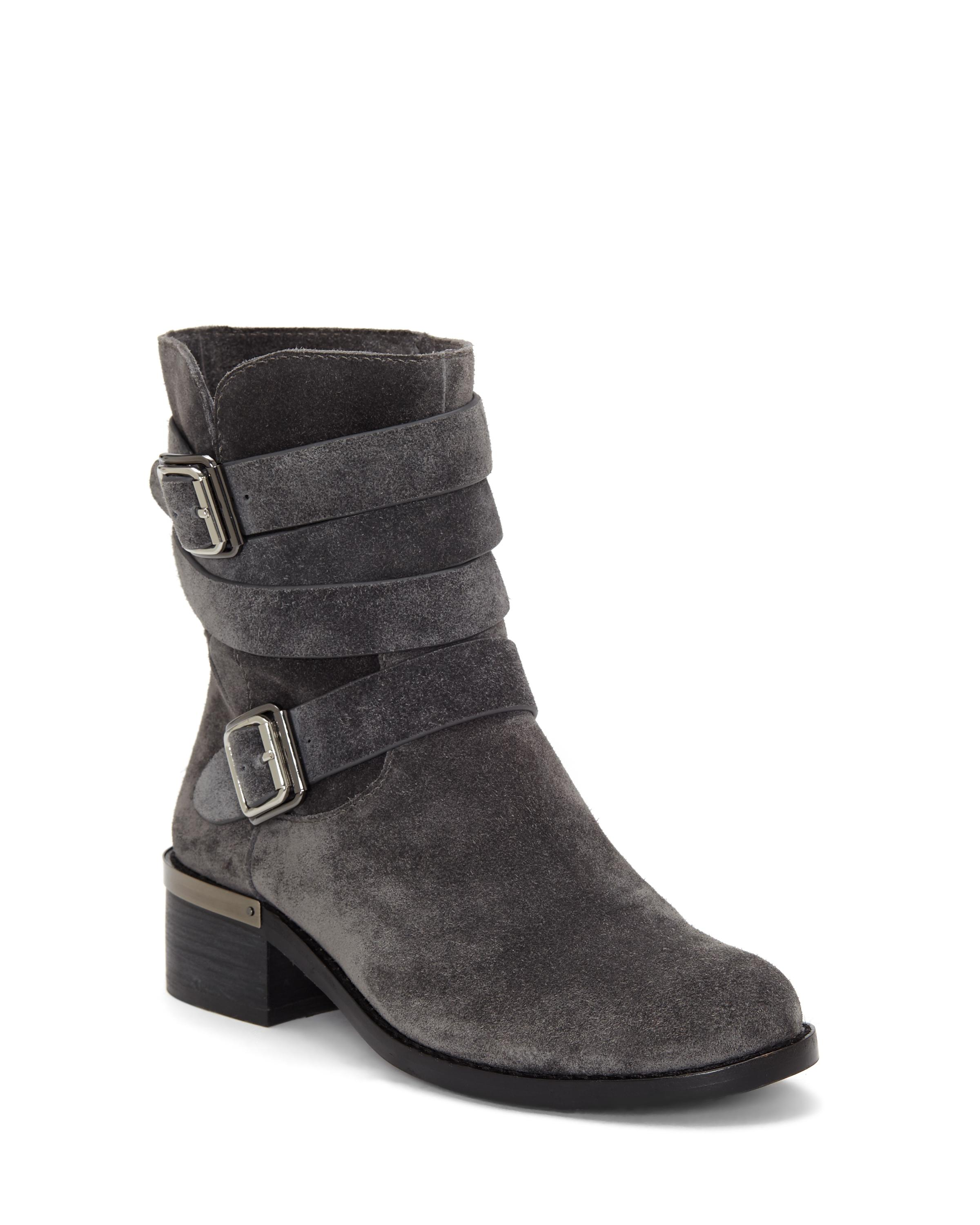 Lyst Vince Camuto Webey Moto Bootie In Black