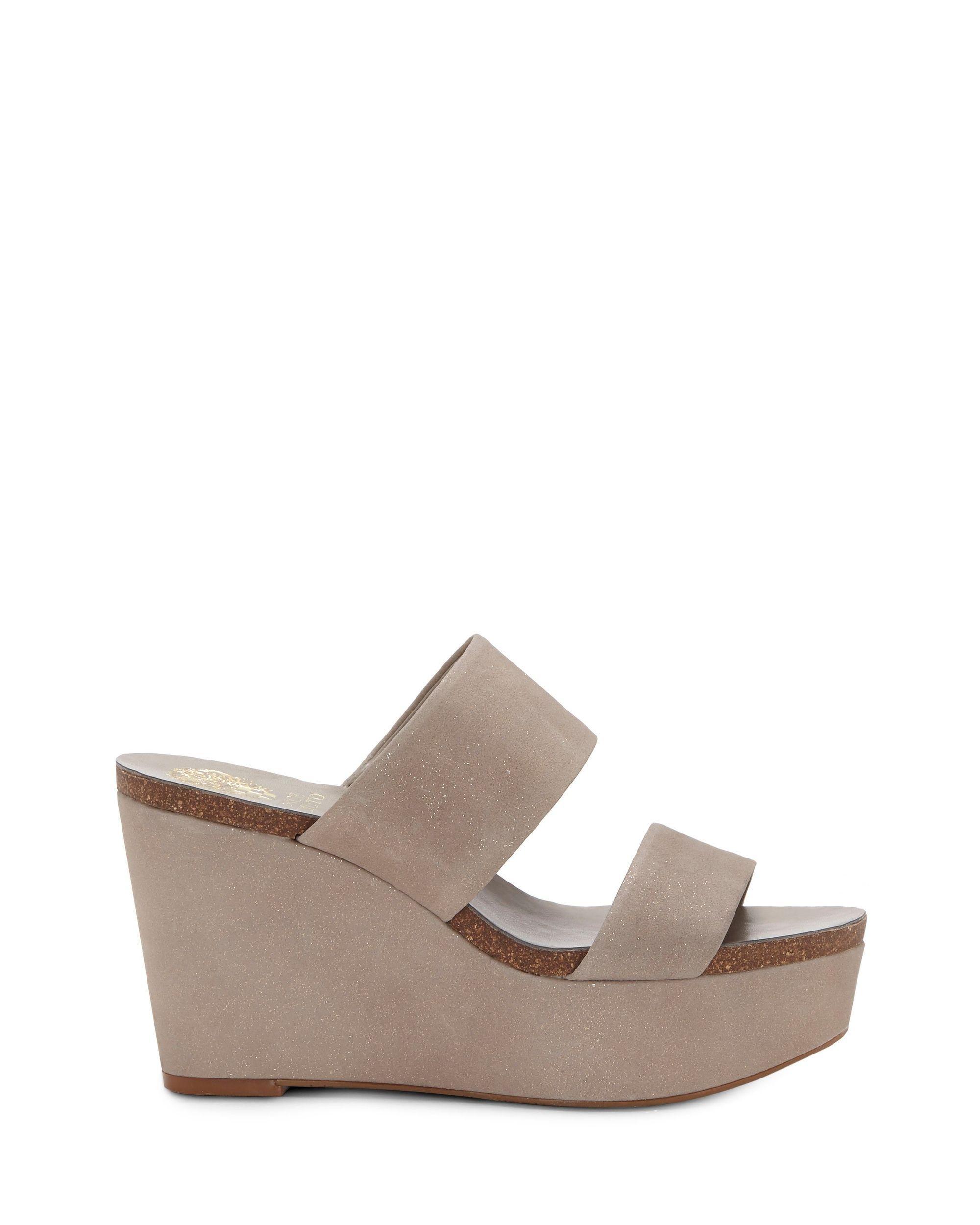 b1ec3b6ac70 Lyst - Vince Camuto Varenia – Platform Wedge Sandal in Gray - Save 23%