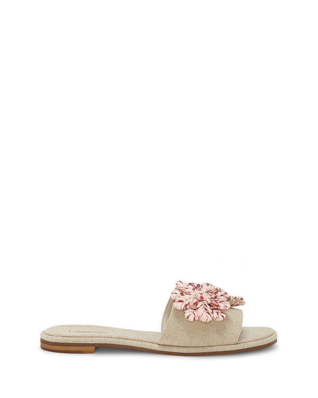 Louise et Cie Chaucer Linen Raffia Ornament Sandals zz83kxRh2