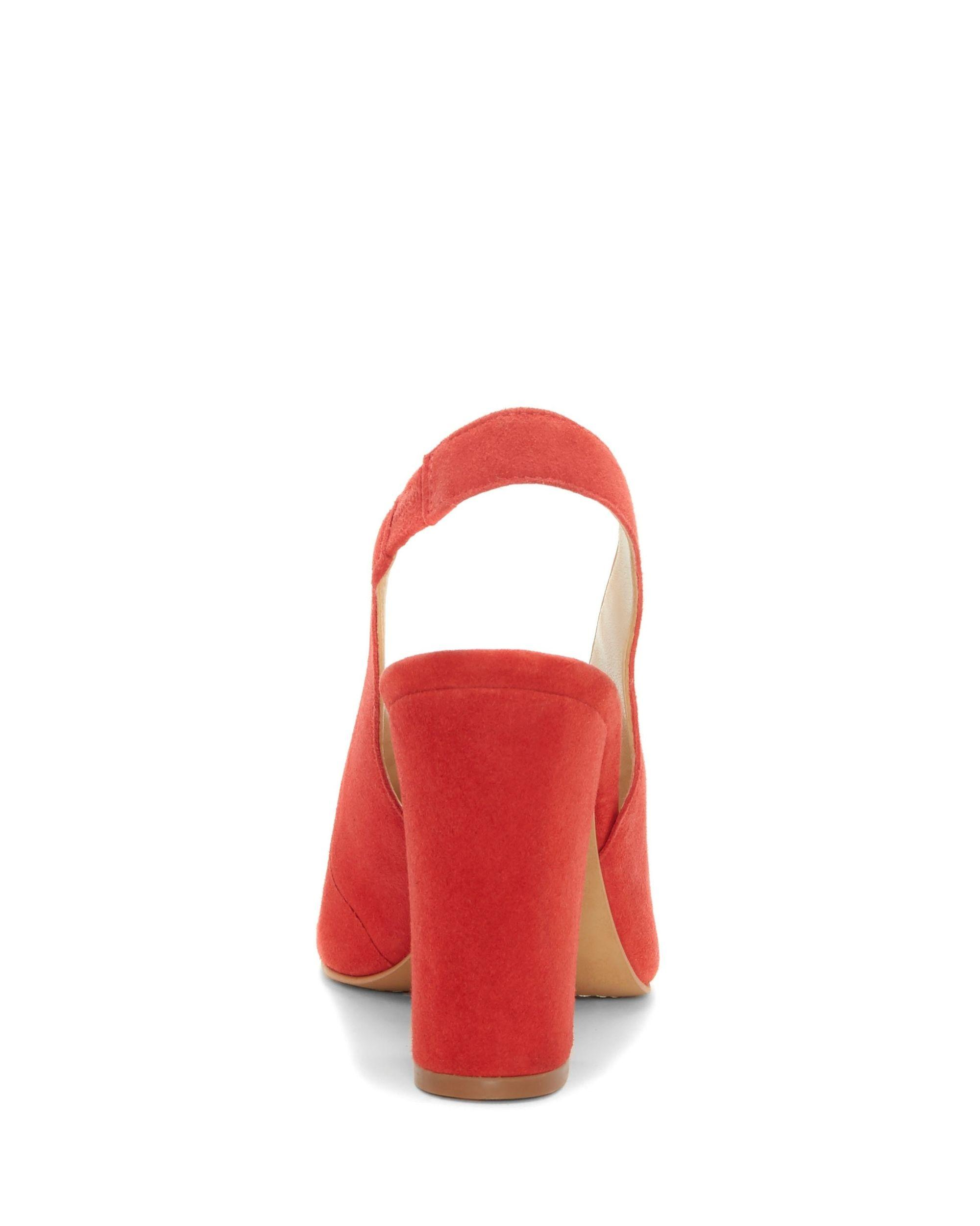99f9ee25529 Vince Camuto - Red Tashinta – Block-heel Slingback Pump - Lyst. View  fullscreen