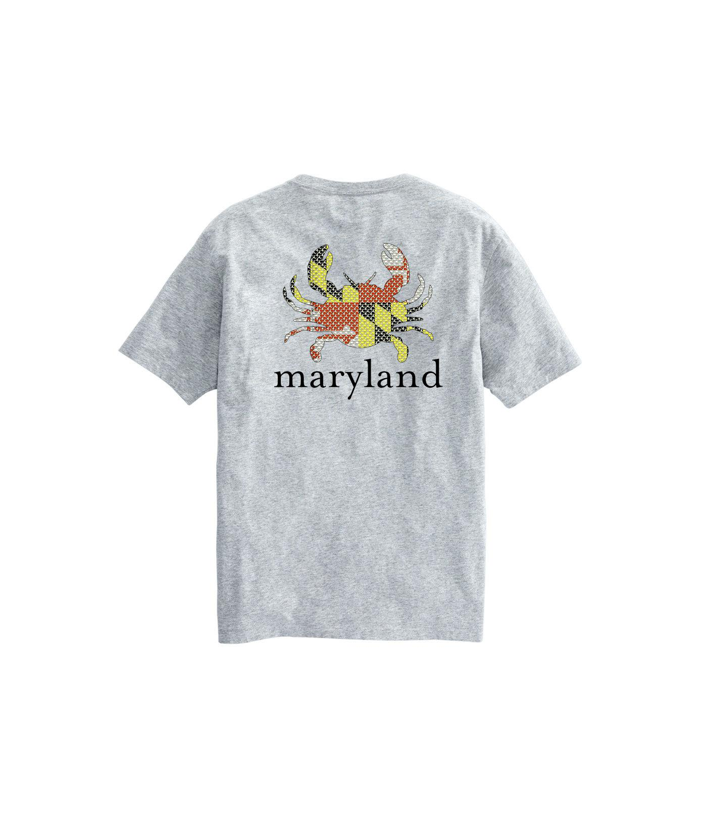 d64aa0b12 Vineyard Vines Adult Short-sleeve Maryland Flag Crab Icon T-shirt in ...