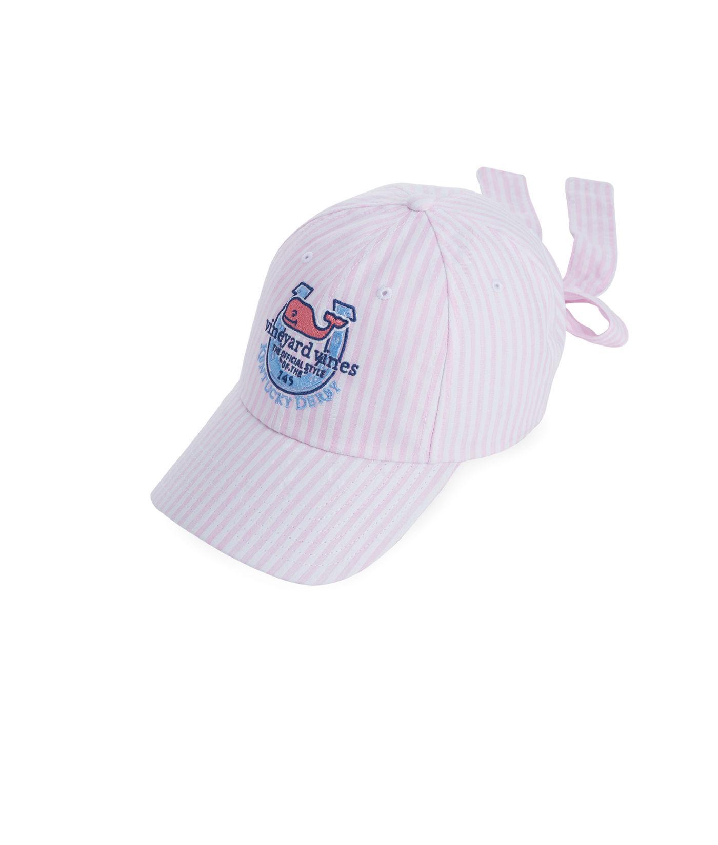 9bf81a1bb58aa Vineyard Vines Kentucky Derby Seersucker Bow Back Hat in Purple - Lyst