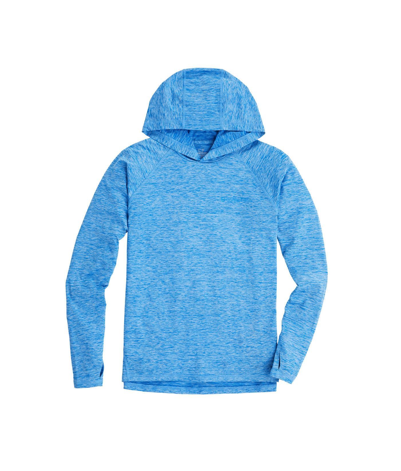 70990fb9 Vineyard Vines. Men's Blue Long-sleeve Performance Space-dyed Fishing Hoodie