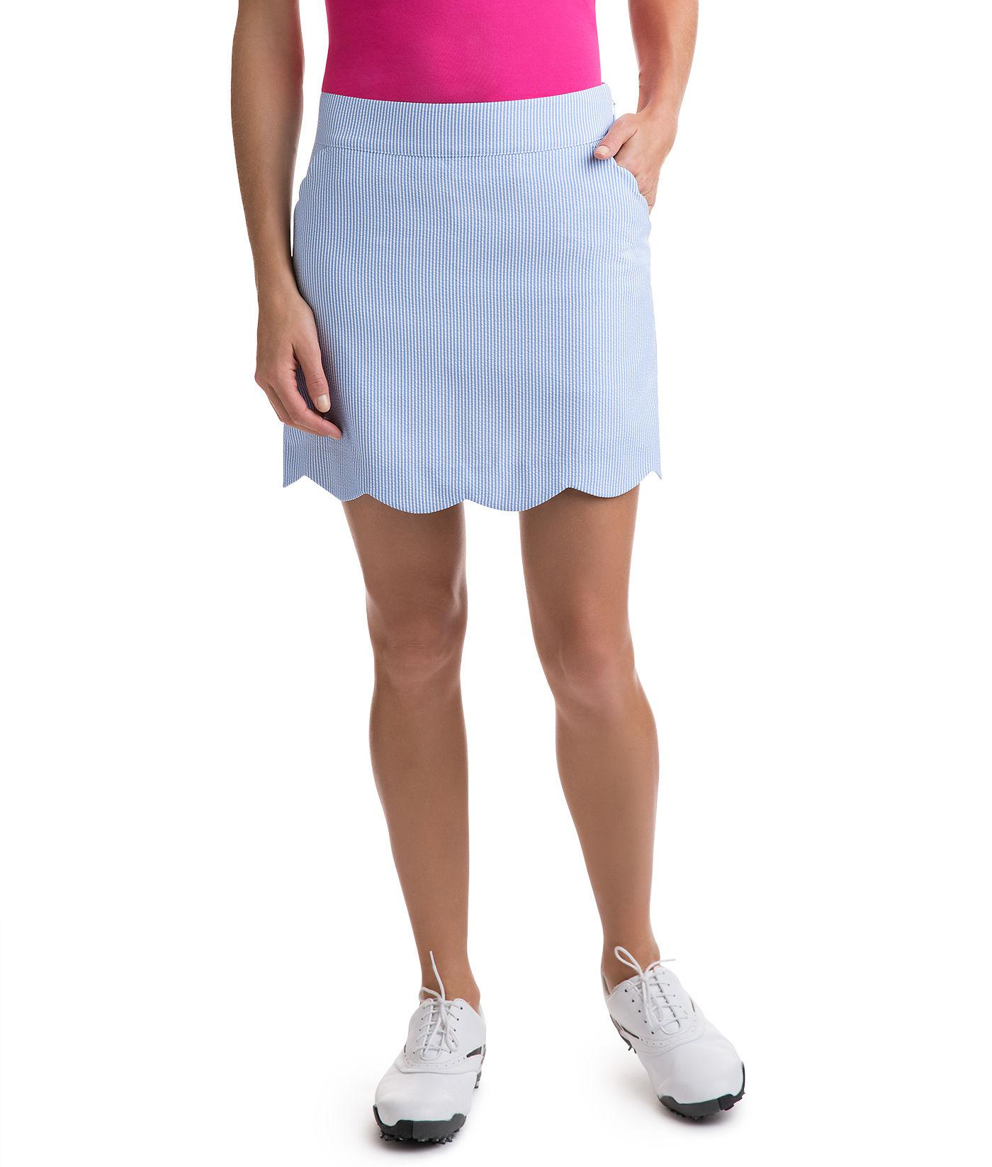 ce164a0cce Vineyard Vines Seersucker Performance Golf Skort in Blue - Lyst