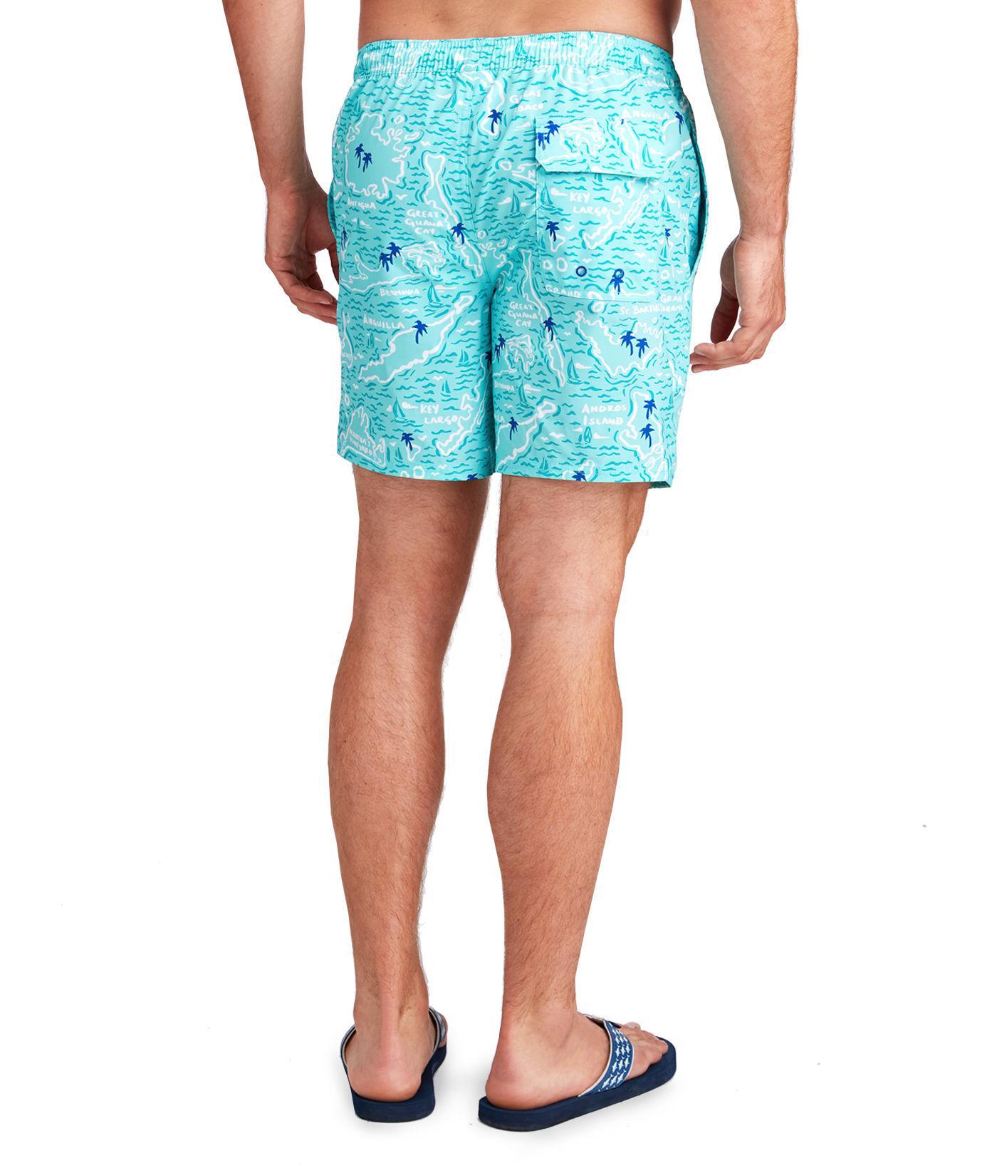 825faa8acb Lyst - Vineyard Vines Chappy Island Map-print Swim Trunks in Blue for Men -  Save 9%