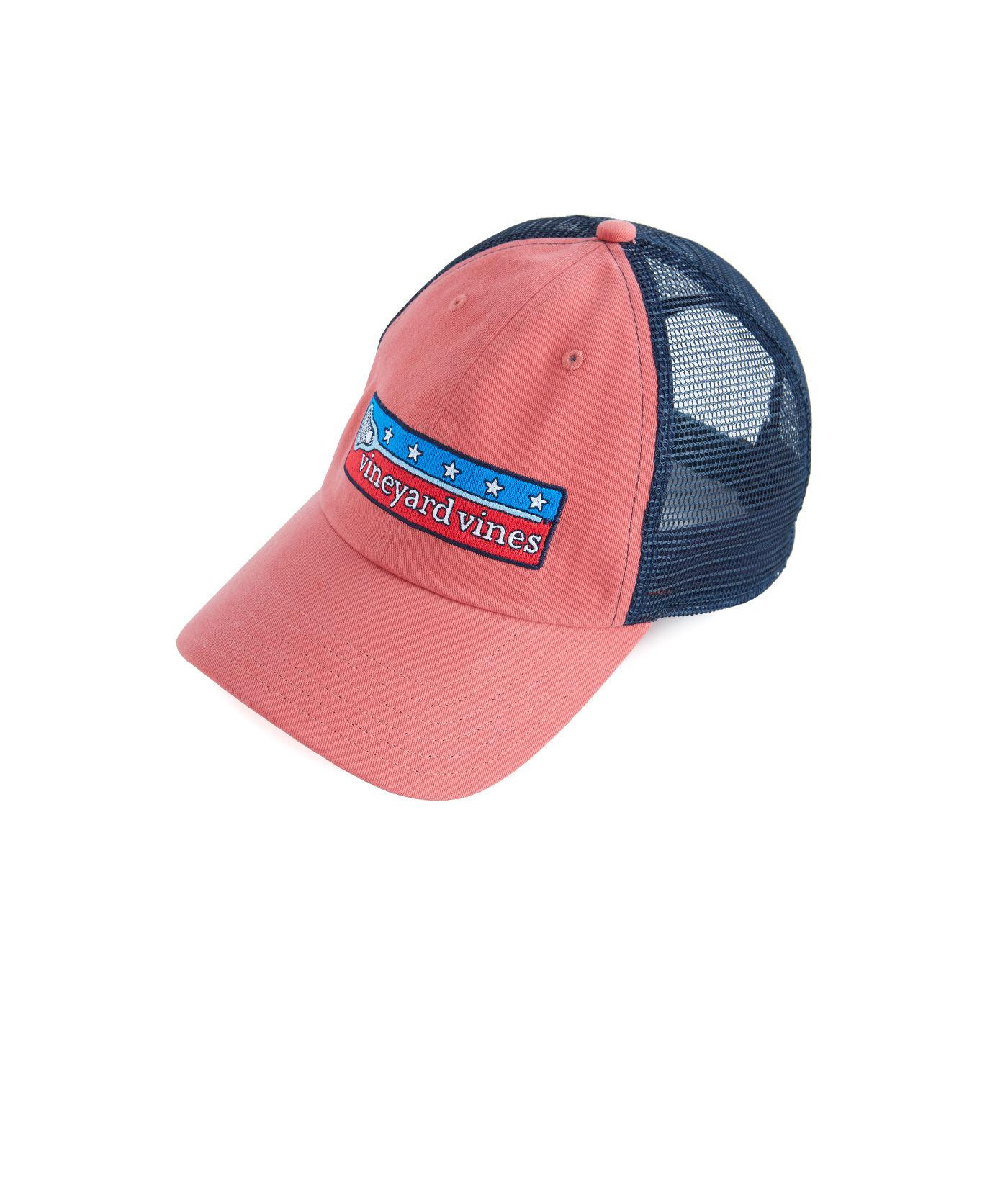 88df4e20a27 Lyst - Vineyard Vines Low Profile Lax Patch Trucker Hat in Red for Men