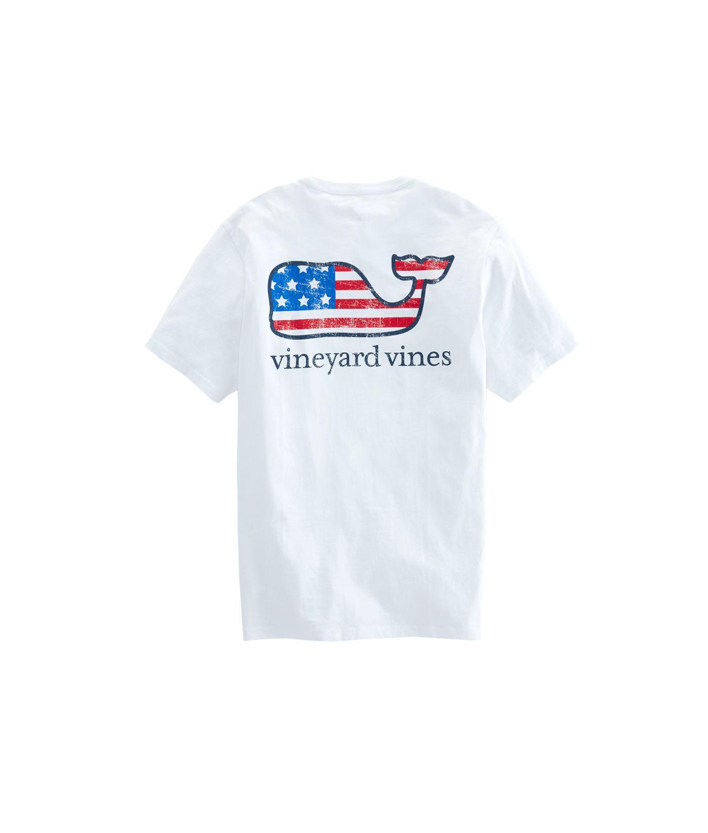 2582e12b Vineyard Vines - White Flag Whale Pocket T-shirt for Men - Lyst. View  fullscreen