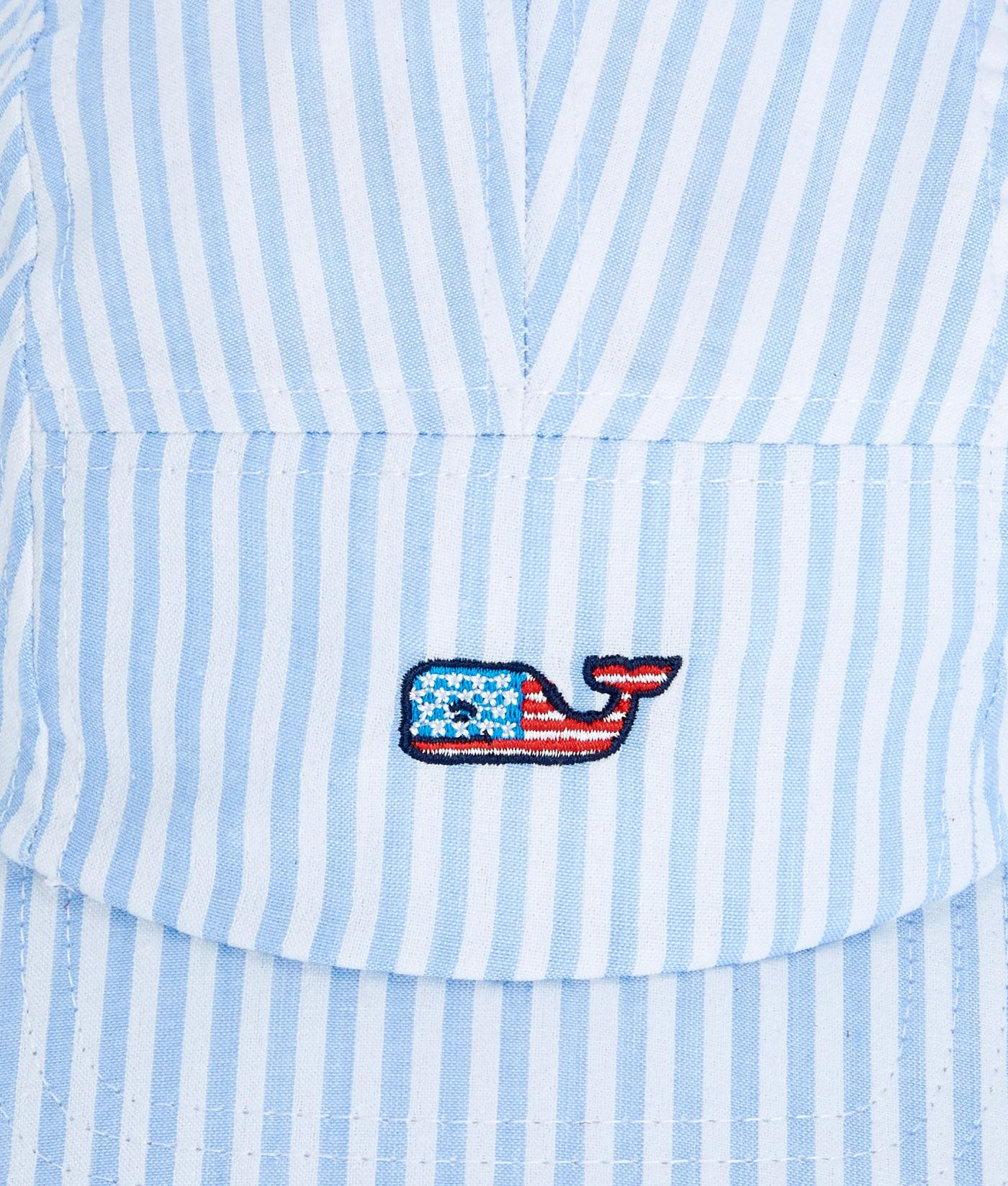 Vineyard Vines - Blue Seersucker Flag Whale Five Panel Hat for Men - Lyst. View  fullscreen 143275185657