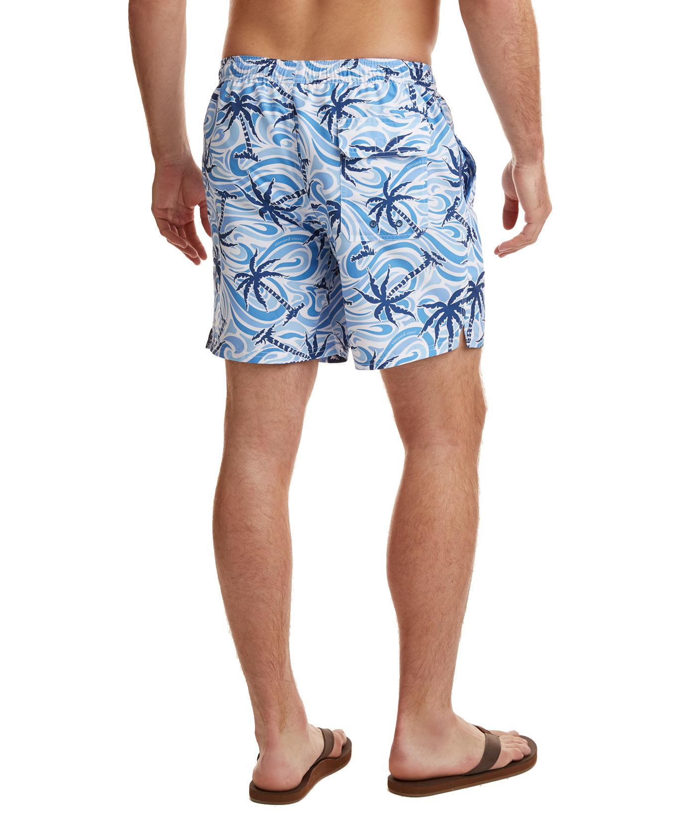 9bf795101b Vineyard Vines Wave Palm Tree Chappy Trunks in Blue for Men - Lyst