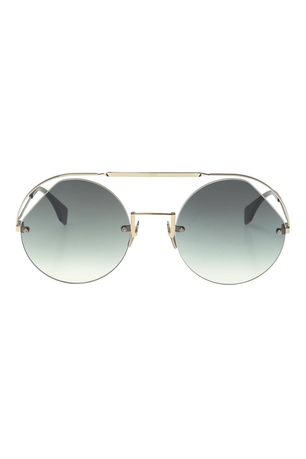 a3df45369ef Lyst - Fendi  ribbons   Crystals  Sunglasses in Metallic
