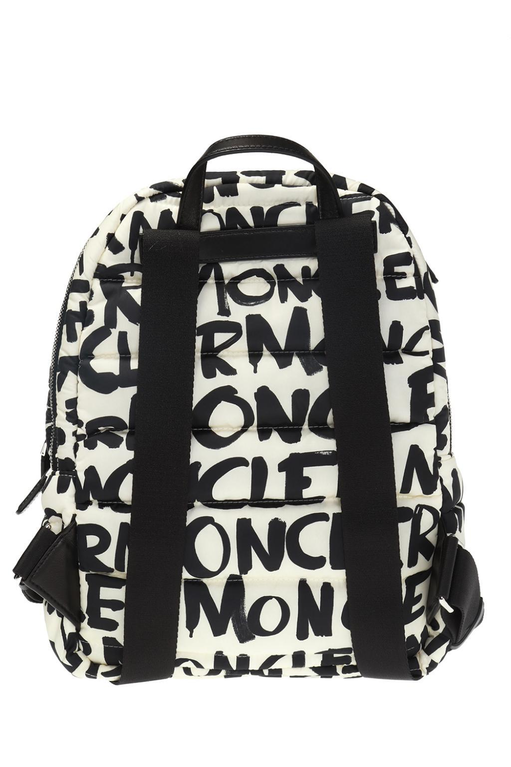 b82fd5191 Moncler All Over Logo Backpack in Black - Save 37% - Lyst