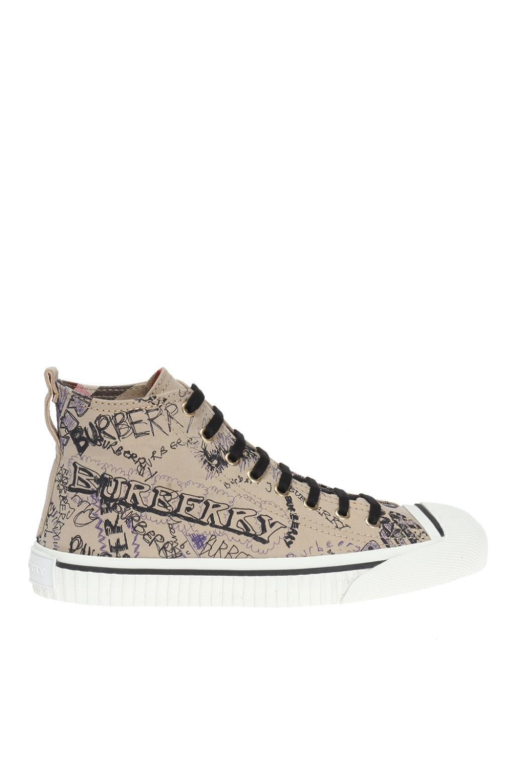 doodle print high-top sneakers - Brown Burberry dnXdLGw