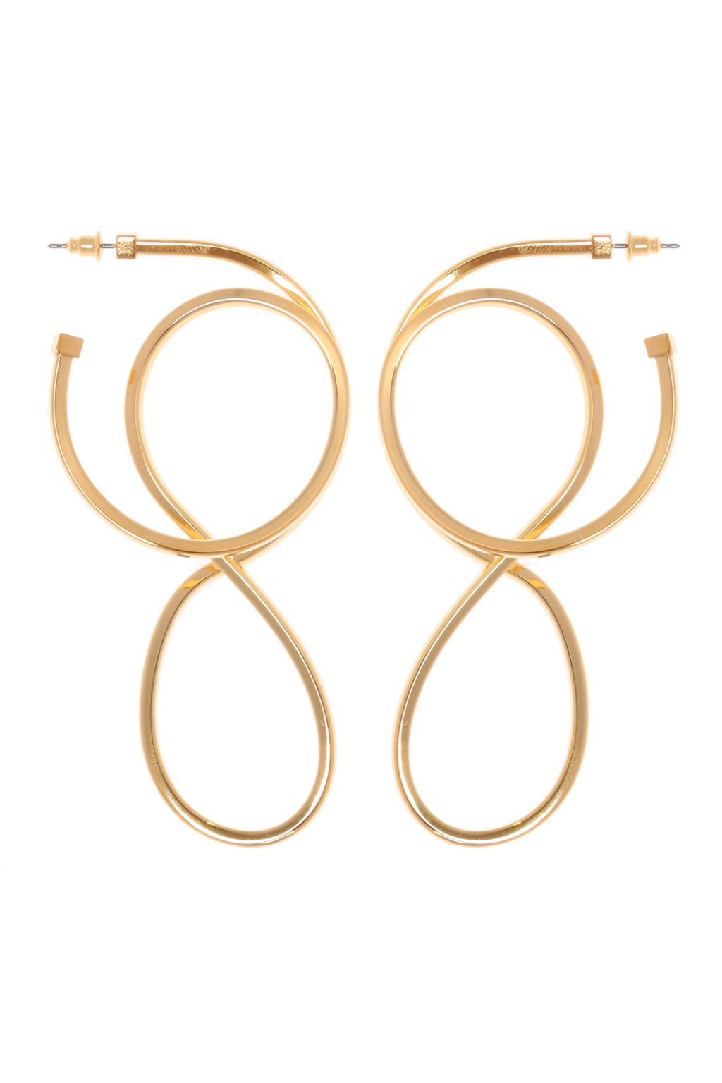 Circle Elastic Earrings - Metallic Balenciaga bUHJHMzkD